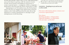 Monocle – Special onSwitzerland this coming November